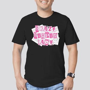 Crazy Coupon Lady Men's Fitted T-Shirt (dark)