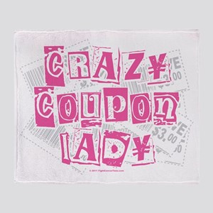 Crazy Coupon Lady Throw Blanket