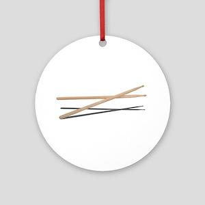 Crossed Drum Sticks Ornament (Round)