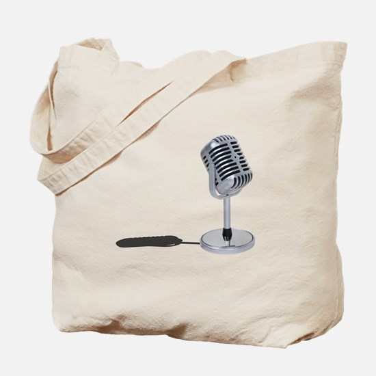 Pill Microphone Tote Bag