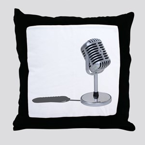 Pill Microphone Throw Pillow