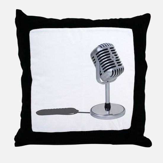 Pill Microphone Throw Pillow