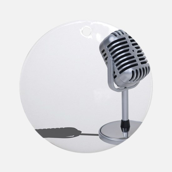 Pill Microphone Ornament (Round)
