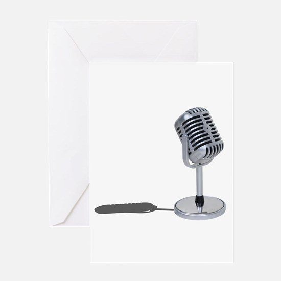 Pill Microphone Greeting Card