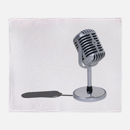 Pill Microphone Throw Blanket