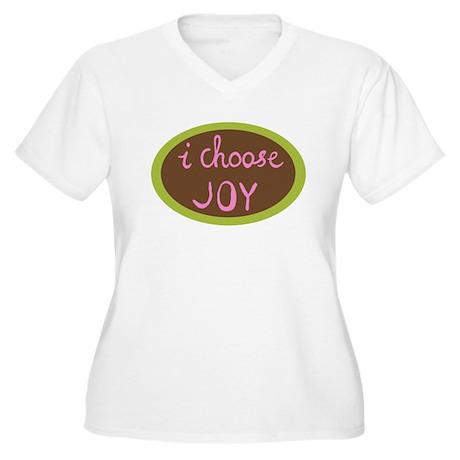 I Choose Joy Women's Plus Size V-Neck T-Shirt
