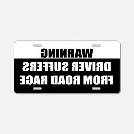 Road Rage Aluminum License Plate