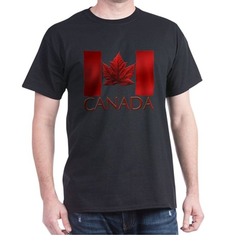 Canadian Flag T-shirt Canada Black T-Shirt