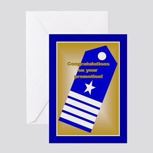 Coast Guard Captain Promotion Greeting Card