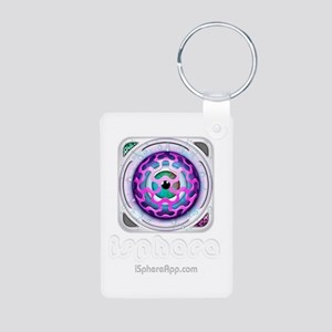 Keychain Aluminum Photo w/ iSphere app icon + logo
