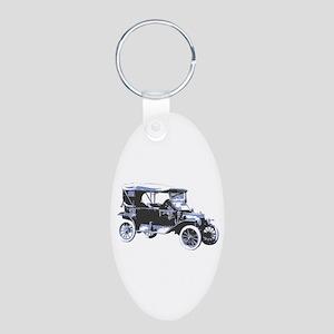 Aluminum Oval Keychain