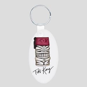 Tiki King Fez Tiki Mug Aluminum Oval Keychain