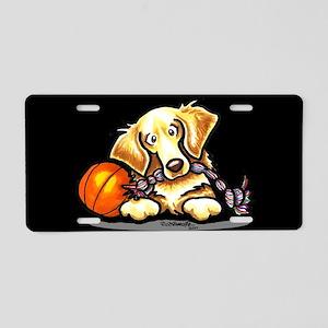 Golden Retriever Player Aluminum License Plate