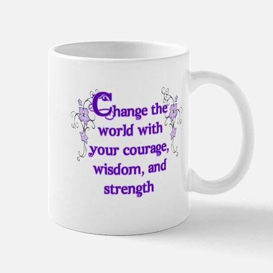 Courage, Wisdom and Strength Mug
