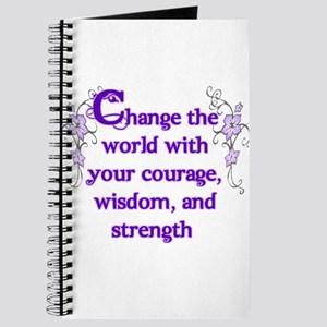 Courage, Wisdom and Strength Journal