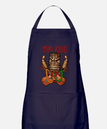 The Tiki King crossed Ukes Logo. Apron (dark)