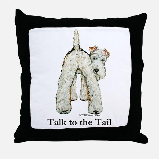 Wire Fox Terrier Tail WFT Throw Pillow