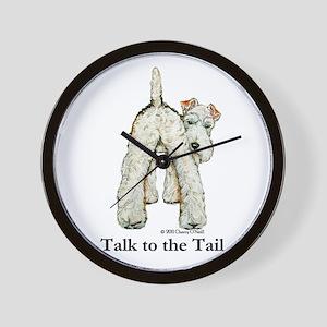 Wire Fox Terrier Tail WFT Wall Clock