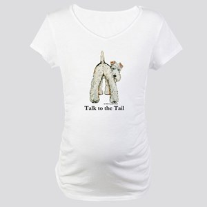 Wire Fox Terrier Tail WFT Maternity T-Shirt