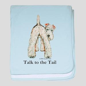 Wire Fox Terrier Tail WFT baby blanket