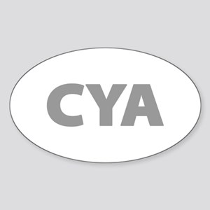 CYA Cover Your Ass Sticker (Oval)