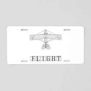 Flight Aluminum License Plate