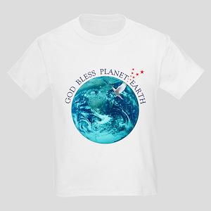 God Bless Planet Earth Kids T-Shirt