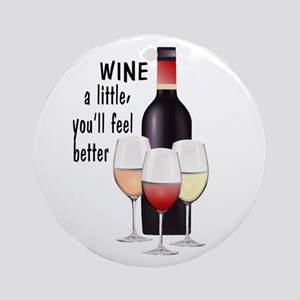 Wine a little Ornament (Round)