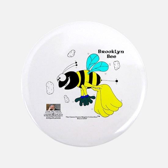 "Brooklyn Bee 3.5"" Button"