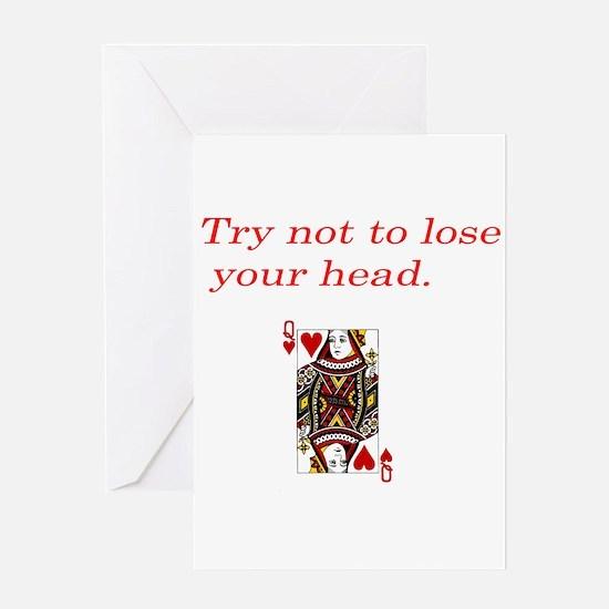 Unique Head off Greeting Card