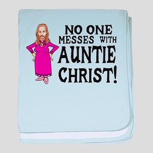 Auntie Christ baby blanket