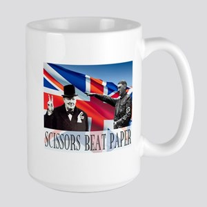 Scissors Beat Paper Large Mug