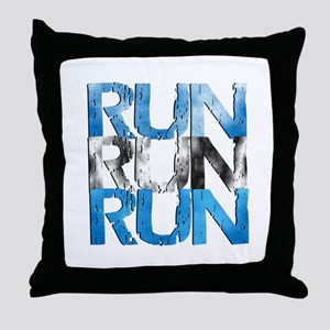 RUN x 3 Throw Pillow