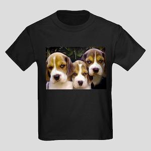Beagle puppies Kids Dark T-Shirt