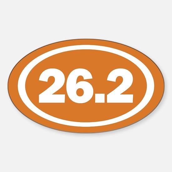 26.2 Burnt Orange True Sticker (Oval)