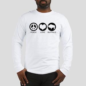 Peace Love Buffalo Long Sleeve T-Shirt