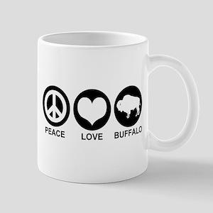 Peace Love Buffalo Mug