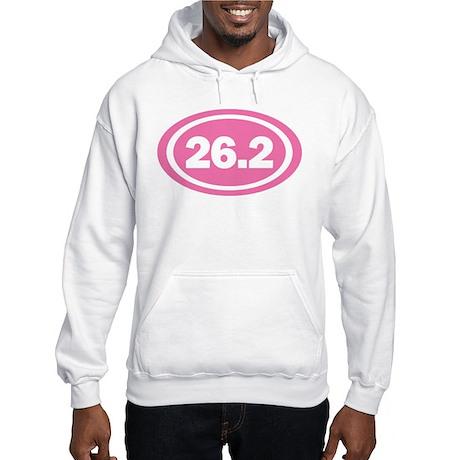 26.2 Pink Oval True Hooded Sweatshirt