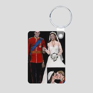 The Royal Couple Aluminum Photo Keychain
