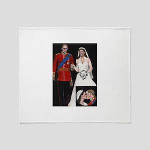 The Royal Couple Throw Blanket