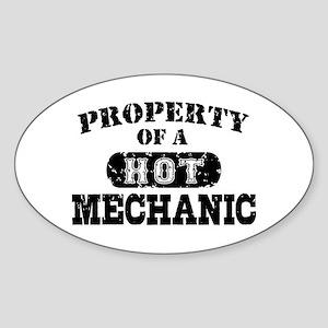 Property of a Hot Mechanic Sticker (Oval)