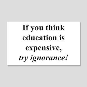 Education quote (black) 22x14 Wall Peel