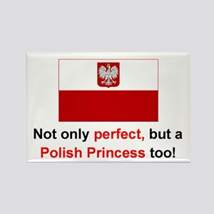 "Perfect Polish Princess Magnet (3""x2"")"