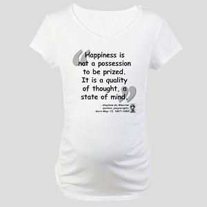 Du Maruier Happiness Maternity T-Shirt