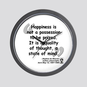 Du Maruier Happiness Wall Clock