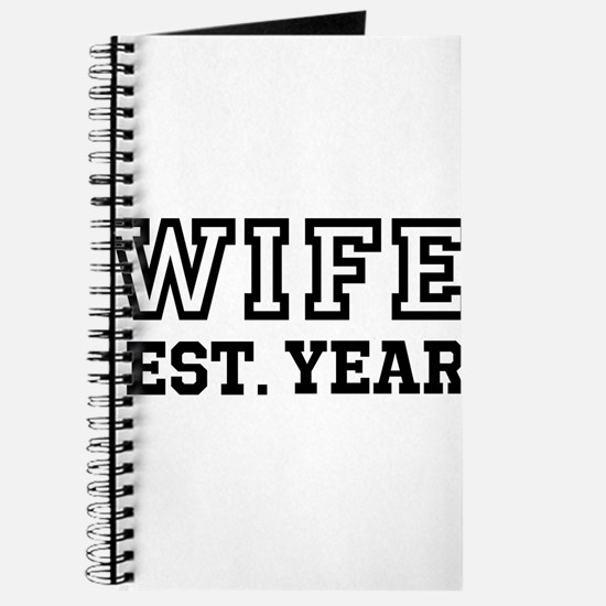 Wife Established Year Personalize It! Journal