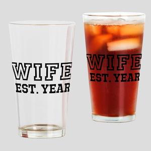 Wife Established Year Personalize It! Drinking Gla