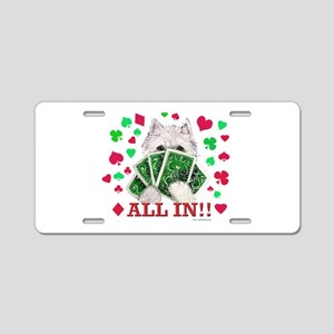 DOGS PLAYING POKER! Aluminum License Plate