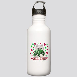 DOGS PLAYING POKER! Stainless Water Bottle 1.0L