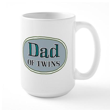 Dad OF TWINS Large Mug